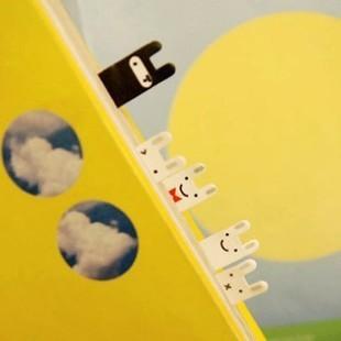 Free Shipping Cute Black&White Joran Rabbit Mini Bookmark Notes Message Post Memo Pad