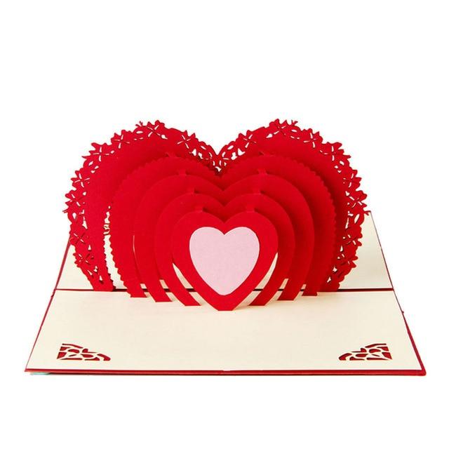 3D Pop Up Card Handmade Love Heart Anniversary Valentine Birthday  Christmas Y102