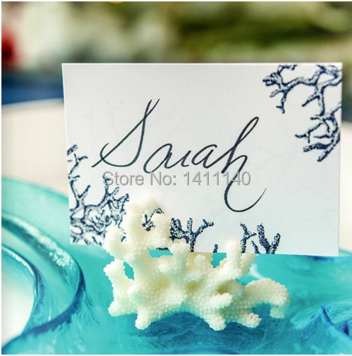 30pcs/lot Beach Summer Wedding Table Number Sign Holder Reception Place Decorations