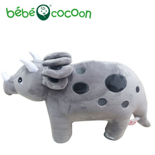 Bebecocoon Good Quality Triceratops Dinosaurs Arlo Dolls Plush Stuffed Toy Animals Toys Dinosaur Figure Gift Set For Boys Girls