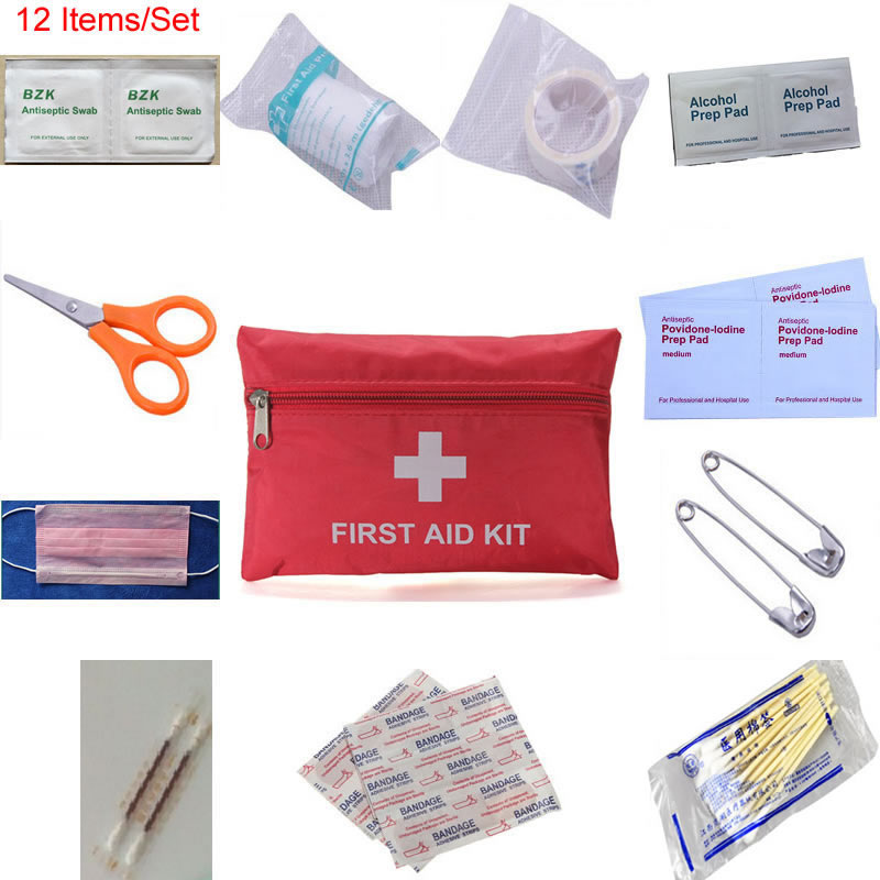 New 12-in-1 Waterproof Person Family First Aid Kit For Medical Emergency Treatment In Travel Camp Hiking Traffic