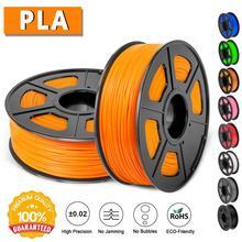 PLA нить 3d принтер печатный материал 1,75 мм диаметр 1 кг катушка без загрязнения биоразлагаемый с полным цветом