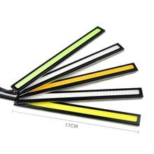 새로운 업데이트 dc 12 v 17cm 100% 방수 울트라 브라이트 cob led 주간 러닝 라이트 자동 바 라이트 운전 안개 램프
