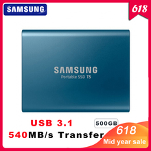 100% Original Samsung T5 portable SSD 500GB USB3.1 External Solid State Drives USB 3.1 Gen2 and backward compatible for PC