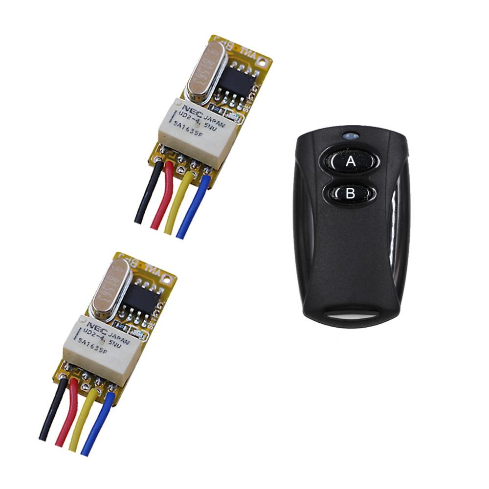 Latest 1CH Relay Switch RF Remote Switch 3.6V 4.5V 5V 6V 7.4V 9V 12V Wireless Remote Switch NO COM NC Momentary Toggle 315mhz hot selling dc12v rf 315mhz 433mhz ch wireless remote control toggle momentary rf relay 12v rocker switch momentary