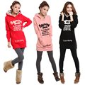 Plus Size Autumn Women Sweatshirt Letters Printed  Outside Clothes Female Long Tops