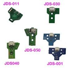Porta de tomada para carregamento usb, peças de reparo para controle de ps4, JDS 050 5.0 011 001 030 040