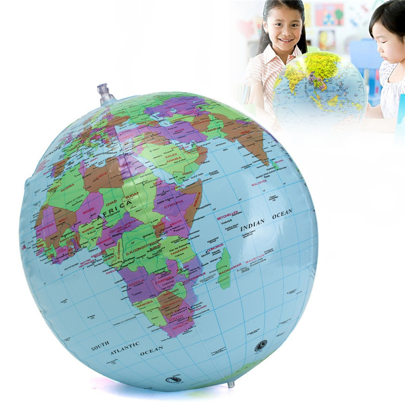 Large 40cm inflatable toy globe english geography learning early aeproducttsubject gumiabroncs Images