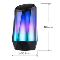Wireless Portable Crystal Colorful Bluetooth Speaker Unique Vase Shape LED Night Light Music Player for Bookshelf support TF AUX