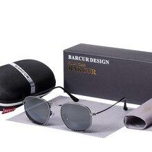 85b1e4045e Gafas De Sol reflectantes De lentes De cristal nuevo BARCUR gafas De Sol  para mujer, gafas De acero inoxidable, gafas De espejo .