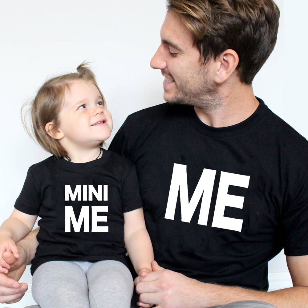 Family Matching T-Shirt Tees Father Daughter Daddy Mini Me Baby Son Summer And Short