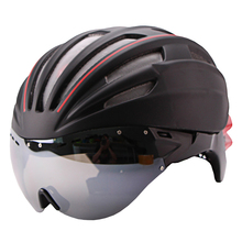 Cycling Helmet Double Layers In-mold Bicycle Helmet Ultralight In-mold Bike Helmet Goggles Glasses Lens Casco Ciclismo