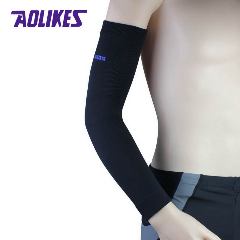Running Running Arm Warmers 1pcs Uv Protection Running Cycling Arm Warmers Basketball Volleyball Sleeves Bike Bicycle Arm Covers Sport Elbow Pad