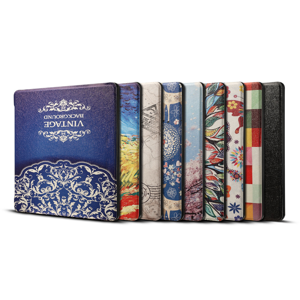 For Amazon Kindle Oasis 2017 7.0 E-reader E-book Print Smart Wake Up Sleep Tablet Case Flip Leather Magnetic Cover + Film + Pen cartoon painted flower owl for kindle paperwhite 1 2 3 case flip bracket stand pu cover for amazon kindle paperwhite 1 2 3 case