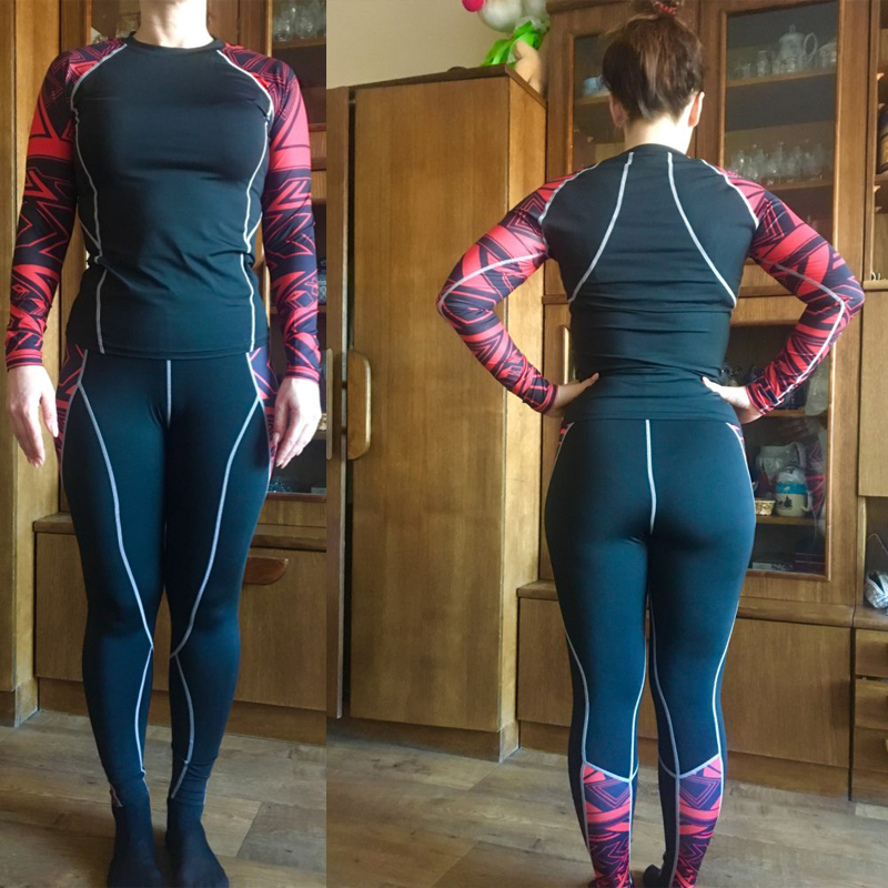 Women's Suit Sportswear Compression Winter Tracksuit Jogging Pants Women Thermal Underwear Set S-4XL Size Woman Running Tights