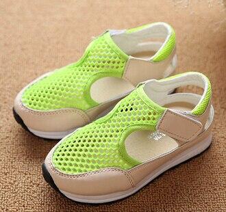 1eb9a9fd 2016 niños del verano del resorte de red transpirable zapatillas de deporte  zapatos causales de caramelo de las sandalias de los zapatos niñas calzado  ...