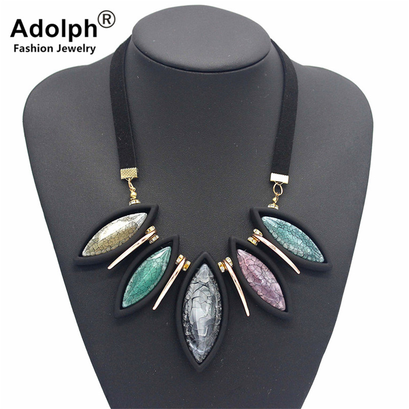 ADOLPH Jewelry Boho Extendy Geometry Stone Choker Necklace Woman Accessories Fashion Maxi Statement Necklace HOT
