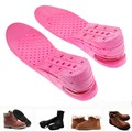 2017 New 1 Pair 7 CM 3-Layer Insole Air Cushion Heel Insert Increase Height Lift Soft PVC Shoe Pads For Men and Women Pink ST1#