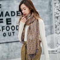 Fashion Brand Winter Scarf For Women Tassel Scarves Warm Females Shawl Sjaal Bandana Cachecol Feminino Inverno