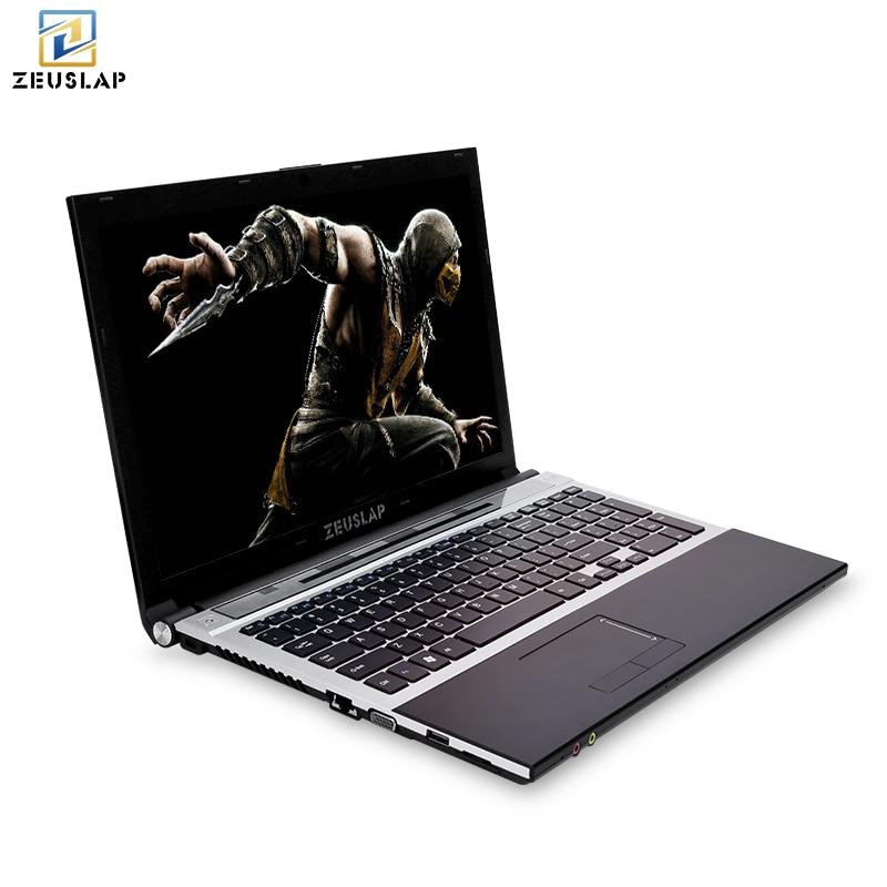 15.6 pouces intel core i7 8 gb ram avec ssd et hdd double disques Windows 10 système 1920x1080 p plein hd Portable PC Ordinateur portable
