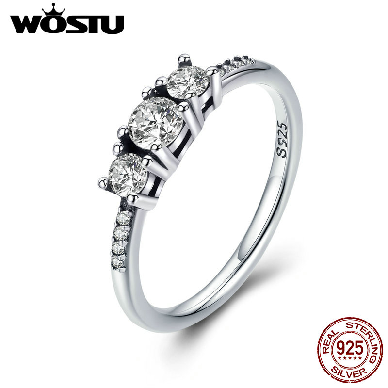 WOSTU Real 100% 925 Sterling Silver Fairytale Sparkling