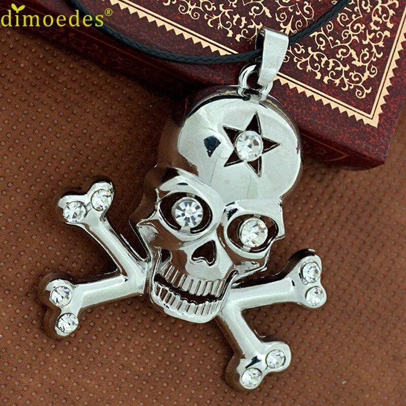 Diomedes gussy feb15 cráneo colgante collar collares de la joyería de acero inox