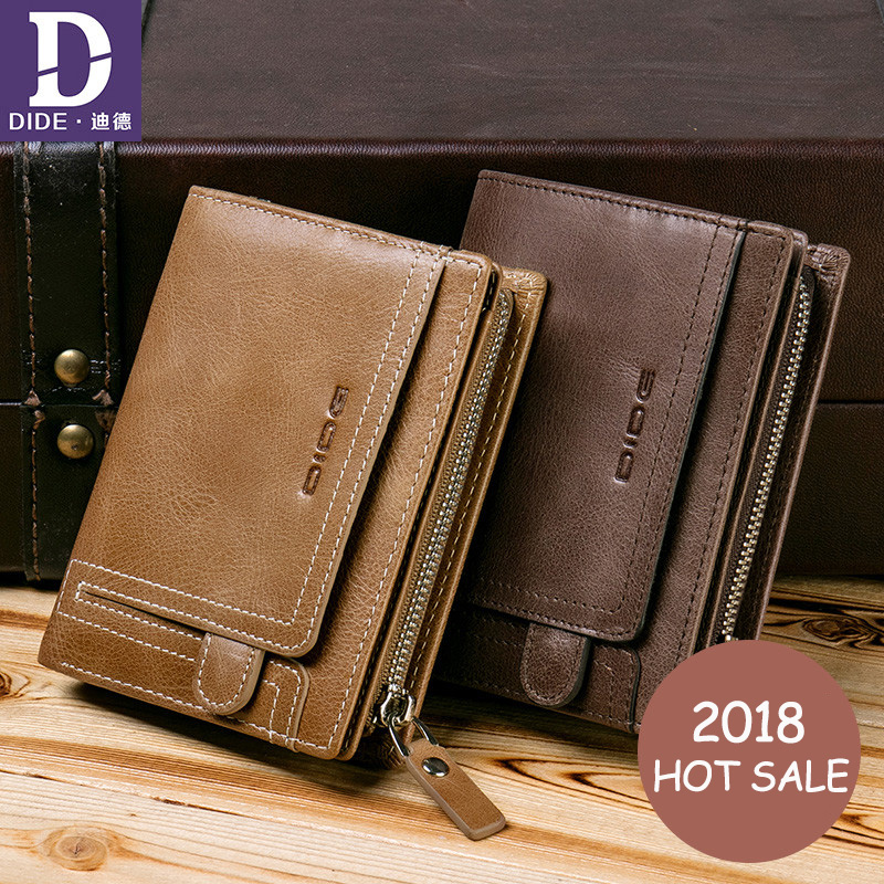 DIDE 2018 Large capacity Genuine Leather Soft vintage style