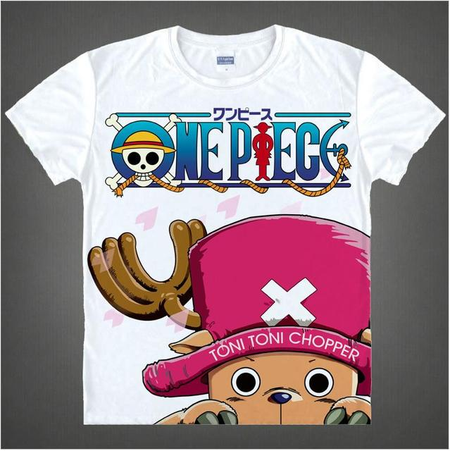 One Piece Monkey D. Luffy Roronoa Zoro Nami Tony Chopper Anime 3D Print Men's T shirt