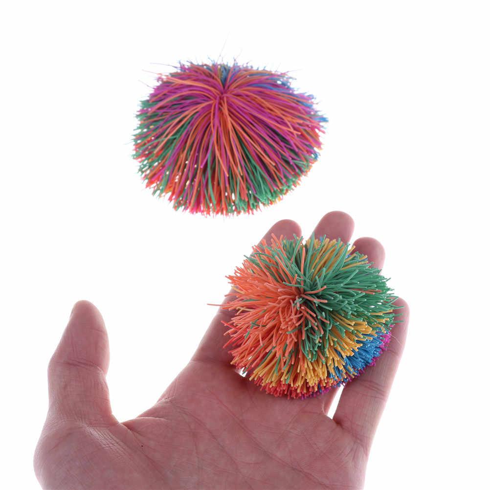Gelisah Koosh Bola Sensorik Bayi Rainbow Lucu Melar Bola Stres Bantuan Anak Autism Kebutuhan Khusus Besar 6 cm/9 cm