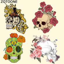 ZOTOONE Cool Skull Clothes Patches 2018 Brand A-level Washable Iron on Transfer for T-shirt Dresses Parches Para La Ropa