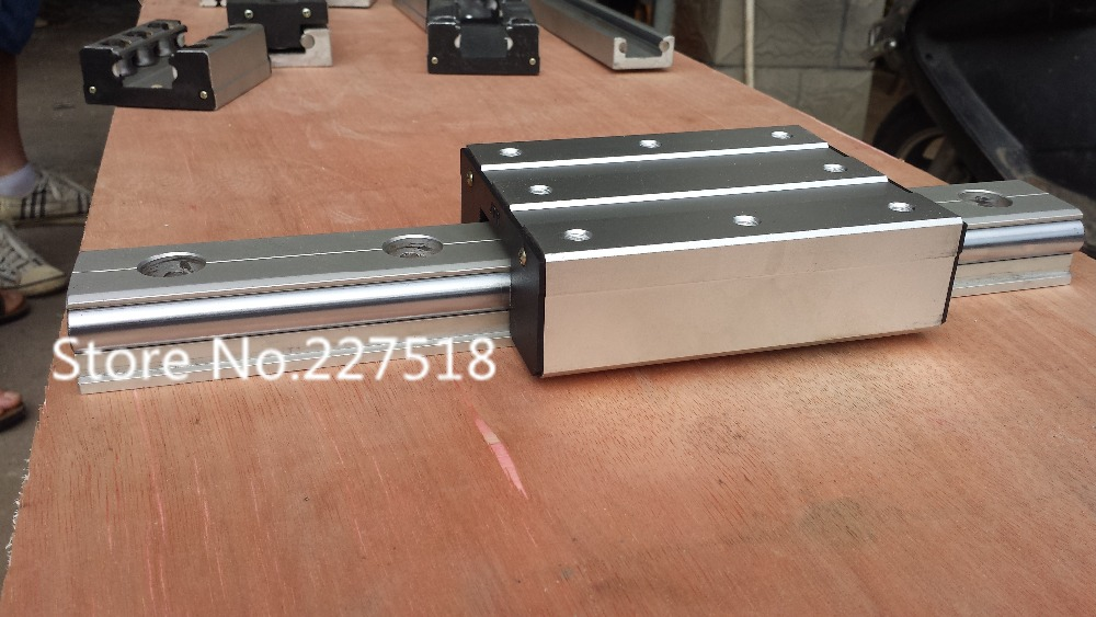High speed linear guide roller guide external dual axis linear guide LGD8 with length 650mm with LGD8 block 100mm length belt driven mechanical linear unit with external roller guides positioning system