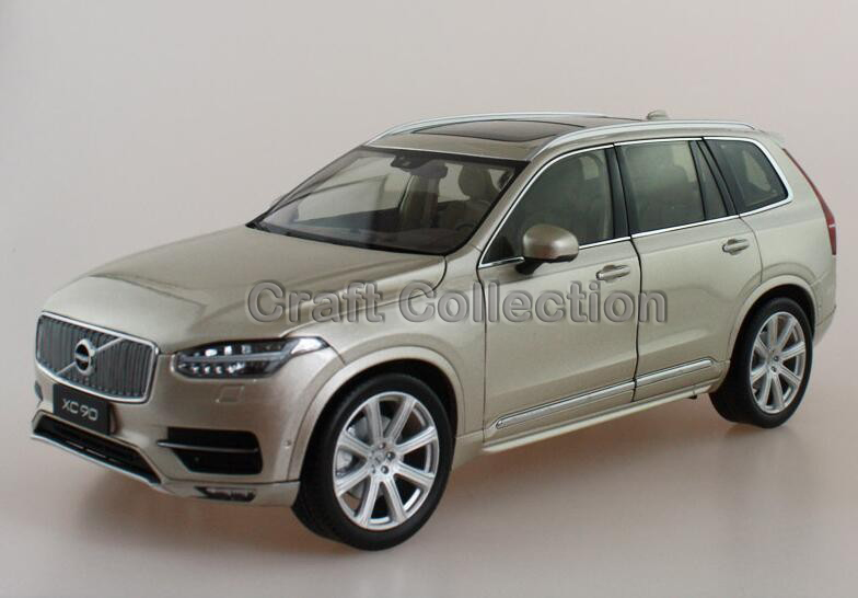 * Gold 2015 1/18 Volvo XC90 SUV Die-Cast Model Car Luxury Miniature Toys Scale Models Alloy Gifts