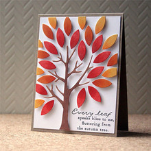 Eastshape Tree Rectangle Dies Scrapbooking Background Leaves Metal Cutting Cover Letter Craft for Cards Making
