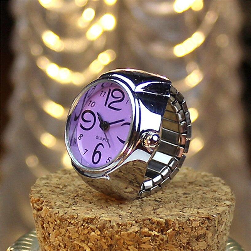2017 Neue Neue Zifferblatt Quarz-analoge Uhr Kreative Stahl Kühlen Elastischen Quartz Ring Finger Uhr Drop Shipping #0310 Halten Sie Die Ganze Zeit Fit
