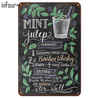 [inFour+] New Mint Julep Cocktail Metal Signs Home Decor Vintage Tin Signs Pub Home Decorative Plates Metal Sign Wall Plaques