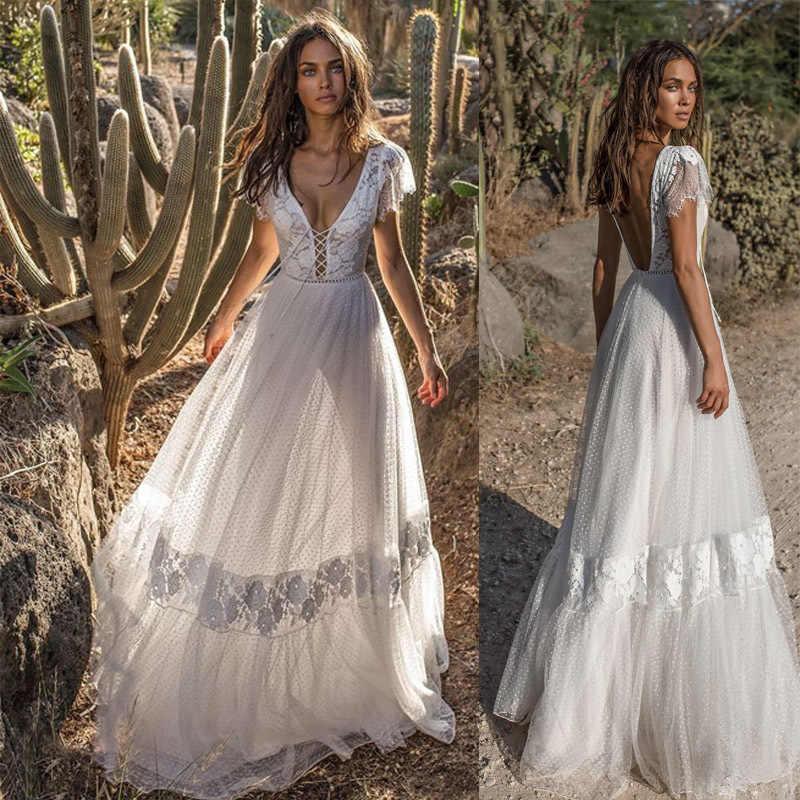 0a454d563e Summer White Lace Dresses For Women 2019 Mesh Formal Dress Plus Size Maxi  Boho Dresses Bodycon