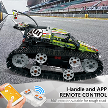 цена на Electric Race remote control Car Set Building Blocks Bricks RC interactive Off-road Track sport Technic Toys for children gift