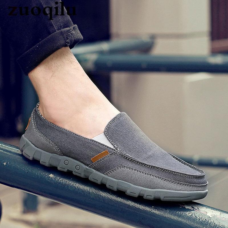 Chaussures en toile hommes respirant hommes chaussures en toile grand Sise 48 marche hommes chaussures hommes chaussures décontractées Zapatillas Hombre ventes d'usine