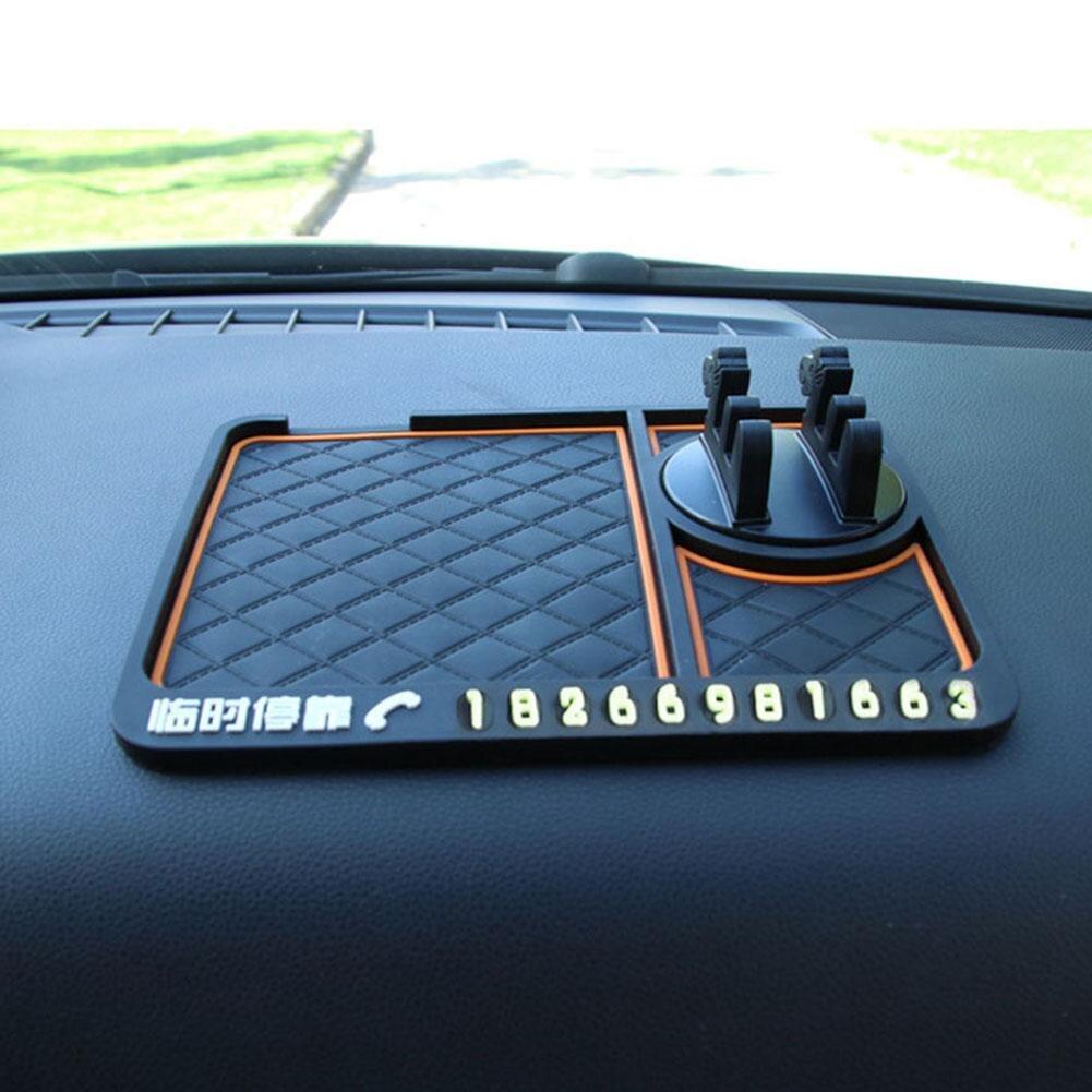 Carro Anti-Slip Mat 360 Graus Ângulo de Número de Telefone do Suporte Do Telefone Móvel Do Painel Decoração Não-slip Mat Titular GPS Assento Perfume