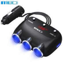 MEIDI Автомобильное Зарядное Устройство Прикуривателя 12 В 120 Вт Dual USB Автомобиля зарядное устройство Адаптер Splitter Гнезда С Напряжение СВЕТОДИОДНЫЙ Дисплей для iPhone6 7