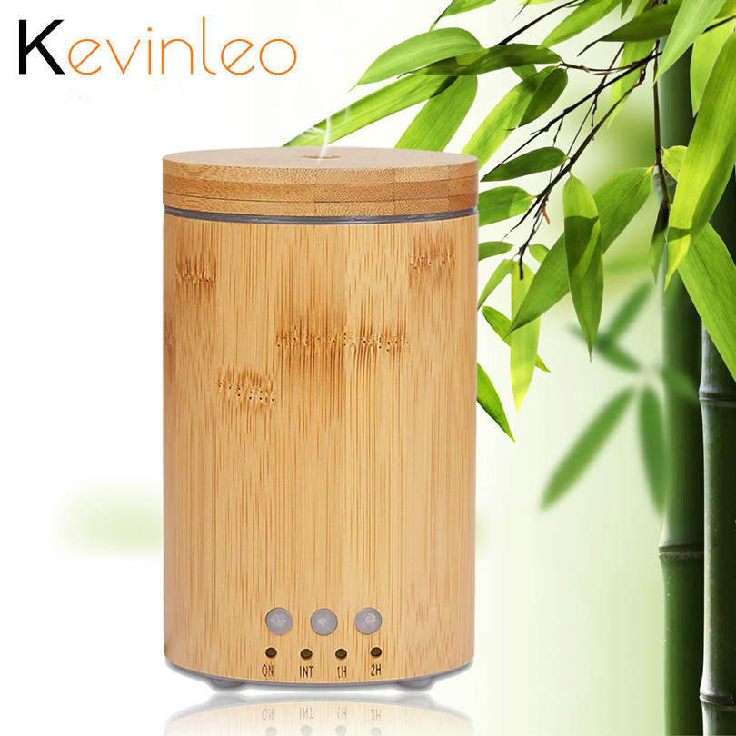 Essential Oil Diffuse Bamboo 24V Night Lamp Timer Function 100ml Diffusers Home Fragrance Mist Maker Mist Humidifier for Office