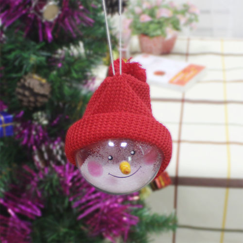 clear transparent plastic fillable filler smile hat ball christmas baubles christmas tree baubles decor drop ornaments in pendant drop ornaments from home