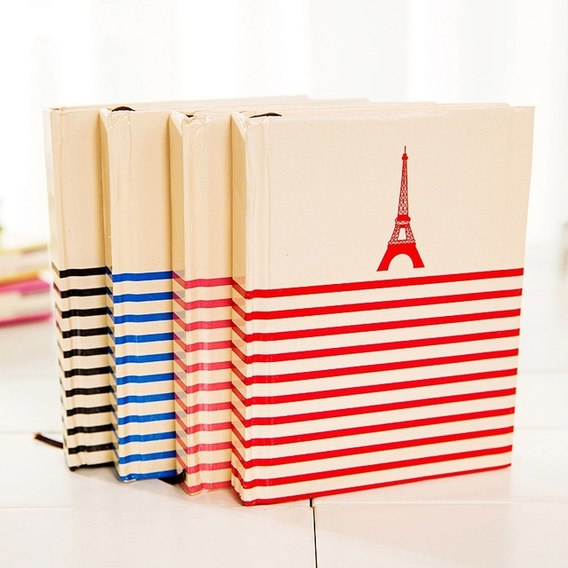 Striped Tower Notebook memo hardcover hardfacing schedule Daily