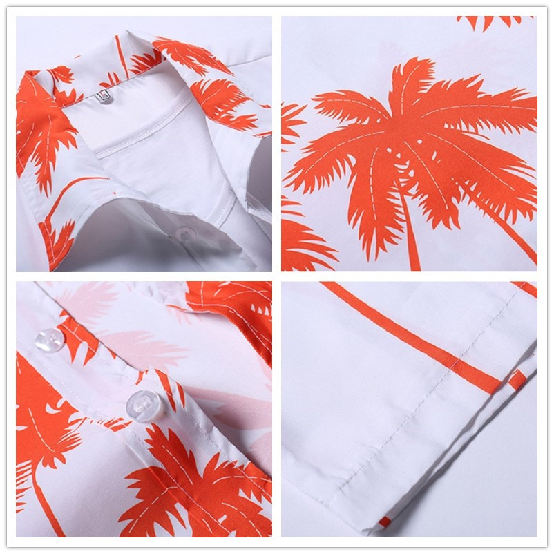 Uwback mężczyźni lato hawajskie koszule 2018 moda światła  K4Fl0