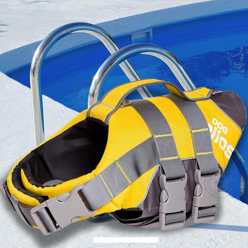 Outdoor Dog Life Jacket Coat PET Safety Swimsuit Flotation Vest 3M Reflective Dog Harness with Adjustable