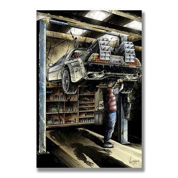 Плакат Гобелен Назад в будущее Материал Шелк