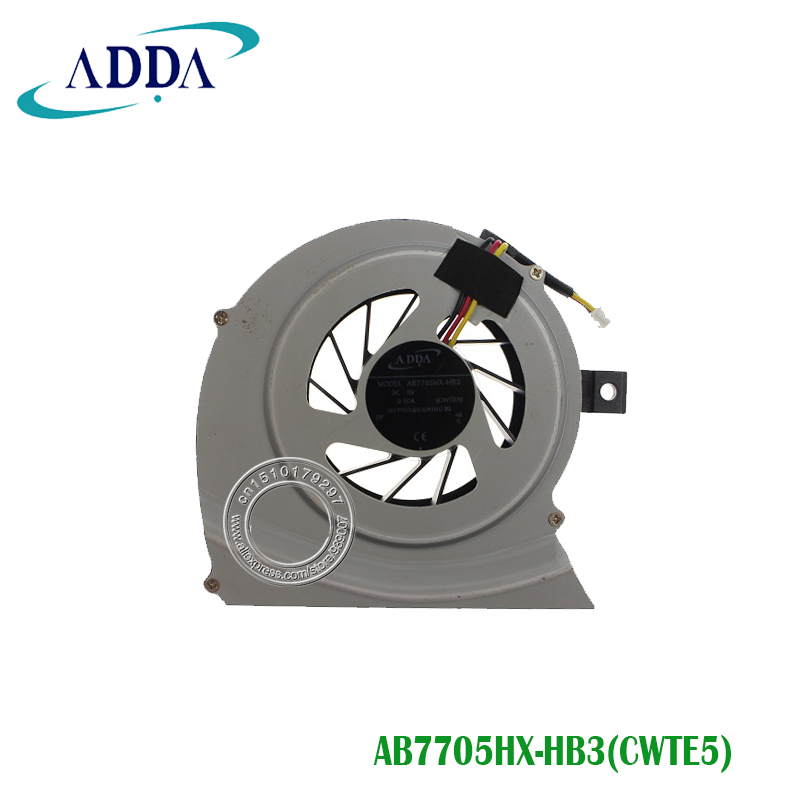 Free Shipping Laptop CPU Cooling Fan For Toshiba Satellite L700 L745 Series AB7705HX-HB3 DC 5V 0.5A