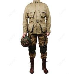 WW2 армейская Военная армейская M42 куртка и штаны для солдат Модная хлопковая униформа для парашютистов (без обуви, без шлема)