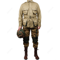 WW2 US Army Military ARMY M42 The soldiers jacket and pants COTTON FASHION Paratrooper uniform(no shoes,no Helmet