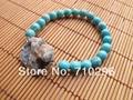 Natural Turquoise Gem stone Bracelet Jewelry Druzy Agate Jewelry